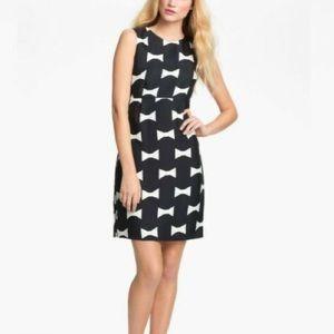 Kate Spade Cora black cream bow print tank dress
